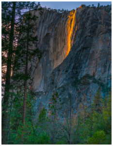 Firefall - horsetail falls in Yosemite
