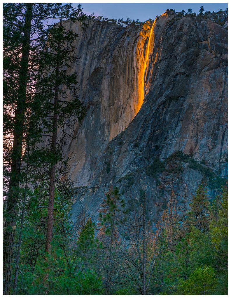 Firefall - horsetail falls in Yosemite