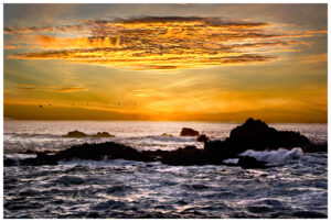 Sunset on the Pacific Ocean at Point Lobos, CA