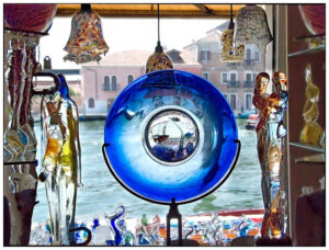 Glass sculpture from Murano, an island near Venice