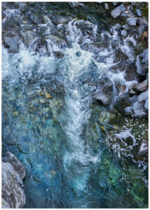 Flowing Yuba River forms designs