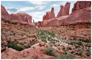 "Park Ave. ""Courthouse Towers"" in Arches National Park"