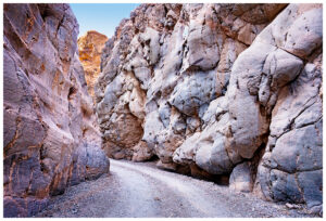Titus Canyon in Death Valley.  The faces in the canyon walls seem to form a group having a meeting.