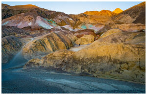 Artist Palate in Death Valley showing their colors near the end of the day