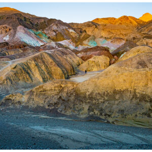 Death Valley at the Artists Palette near sunset.